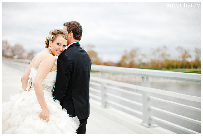 jamie + aaron's downtown columbus wedding